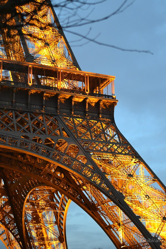 View of the Eiffel Tower by Chibiraf