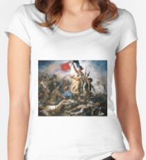 Liberty Leading the People by Eugène Delacroix (1830) Women's Fitted Scoop T-Shirt