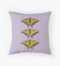 Golden Moth Throw Pillow