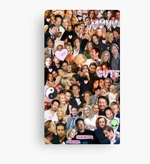 Gillian Anderson and David Duchovny collage Canvas Print