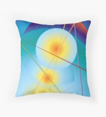 Suns and Moone Throw Pillow