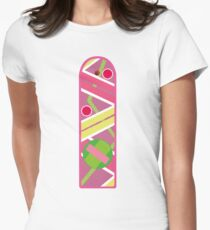 Hoverboard Flat Women's Fitted T-Shirt