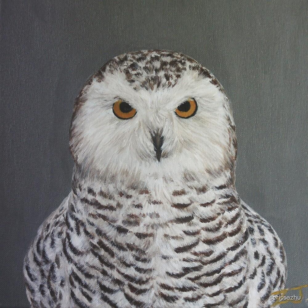 Bird Portrait - Snowy Owl by serissazhu