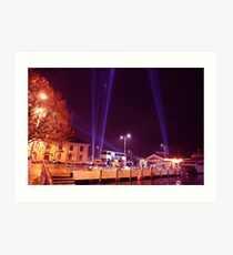 Dark Mofo 2014 - Articulated intersect  waterfront  Art Print