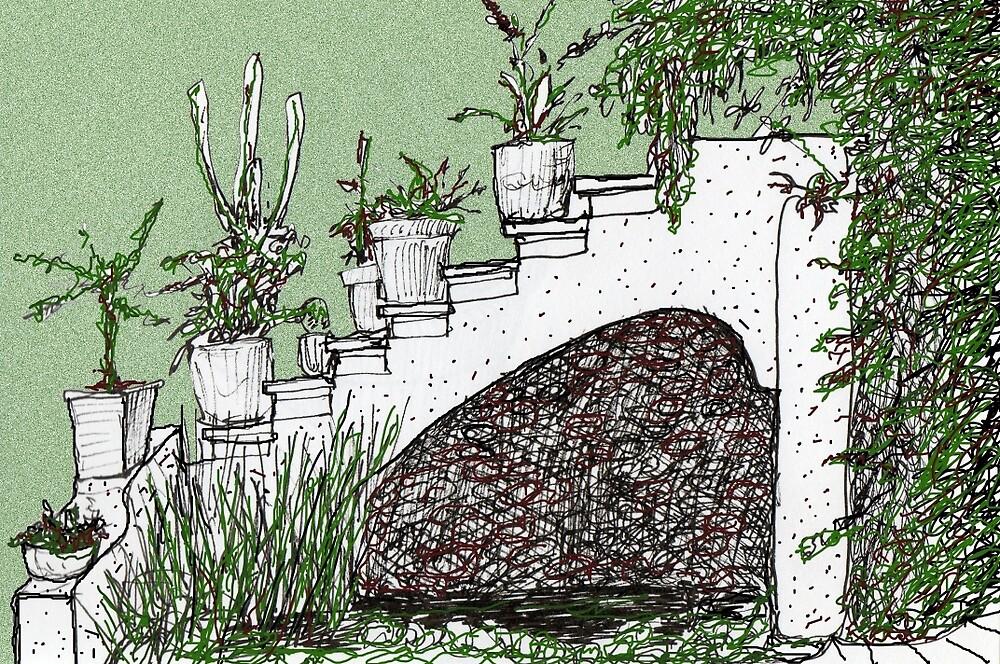 Garden Stairway by James Lewis Hamilton