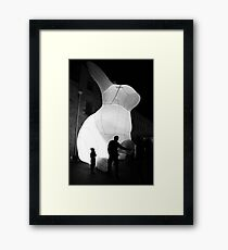 Dark mofo bunny Framed Print