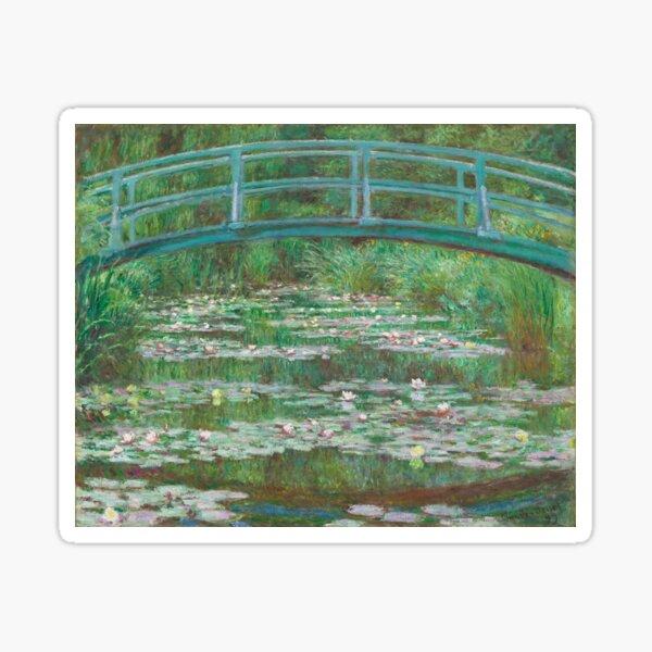 MONET. Claude, Artist, Art, Painter, Oil Painting, Canvas, The Japanese Footbridge, 1899. Sticker