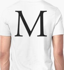 M, Alphabet, Letter, Mike, Michael, Mary, A to Z, 13th Letter of Alphabet, Initial, Name, Letters, Tag, Nick Name T-Shirt
