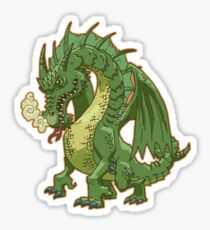 Green Dragon Sticker