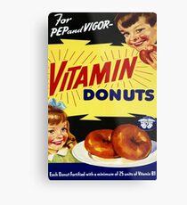 Vitamin Donuts Metal Print