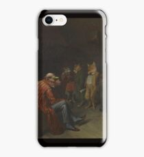 William Holbrook Beard -  School Rules. animals portrait: beasts, animals, foxes, hamster,  School, hares, costume, teacher, students, lesson, fantasy iPhone Case/Skin