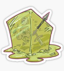 Gelatinous Cube Sticker