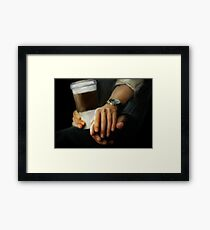 coffee and comfort Framed Print