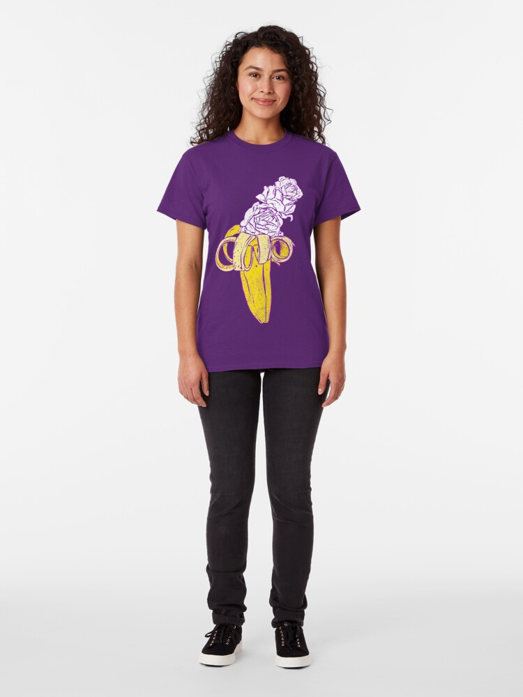Alternate view of floral banana Classic T-Shirt