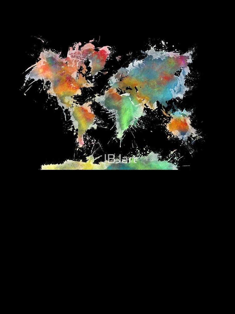 World map splash by JBJart
