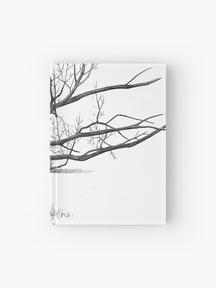 Gnarly Tree With Twisted Branches Pencil Drawing Hardcover Journal By Joyce Redbubble