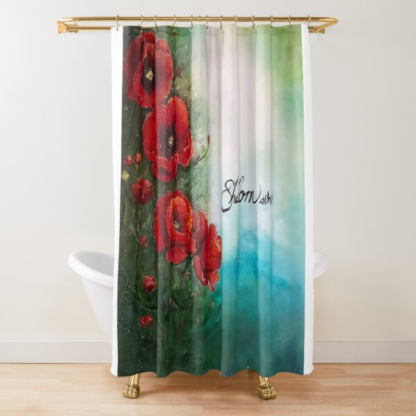 Red Poppies by JTMUSES Shower Curtain