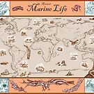 Ancient Marine Life map by David Fraser