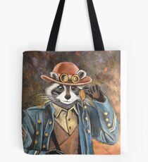 Steam Punk Raccoon Tote Bag