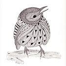 Tangled Little Bird 2 by Christianne Gerstner