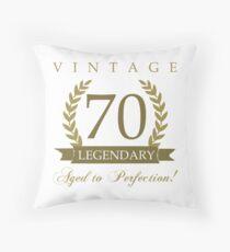 Legendary 70th Birthday Throw Pillow