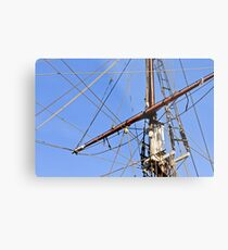 Ship Mast Metal Print
