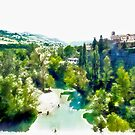 Fognano: landscape with river by Giuseppe Cocco