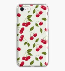 seamless pattern cherry red iPhone Case/Skin
