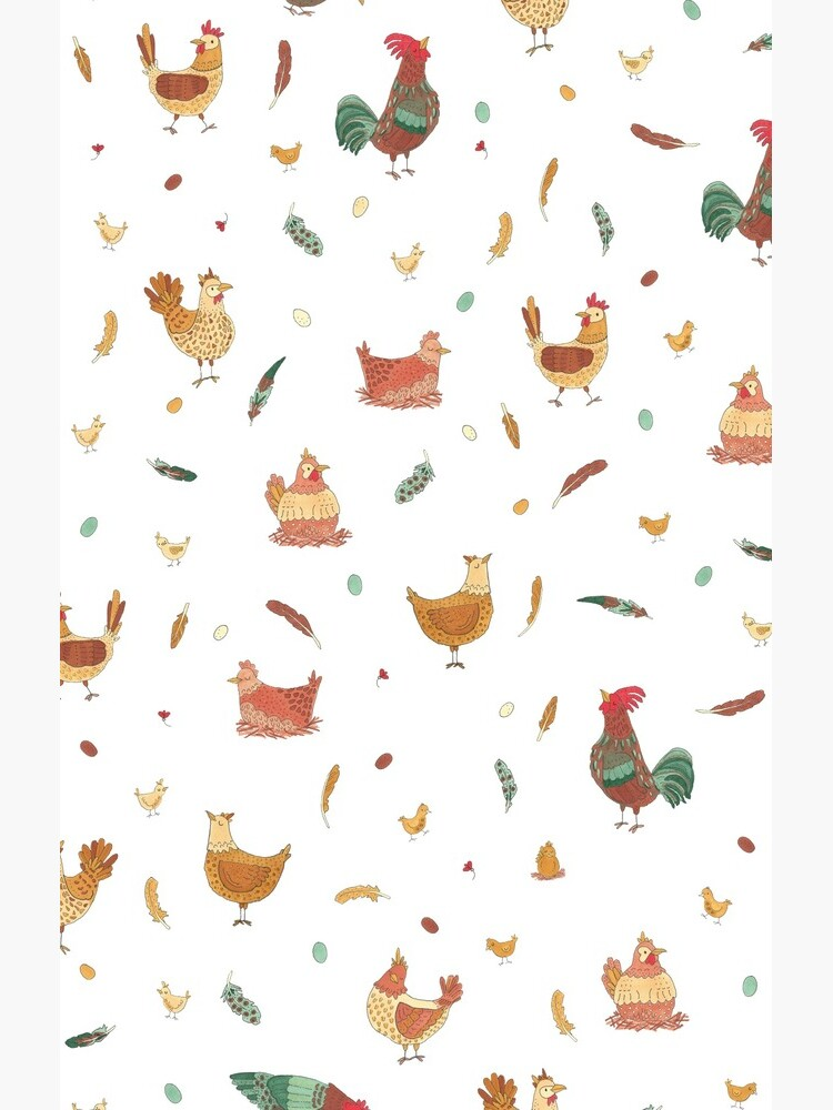Cute Spring Chickens Pattern by tiffjamaica