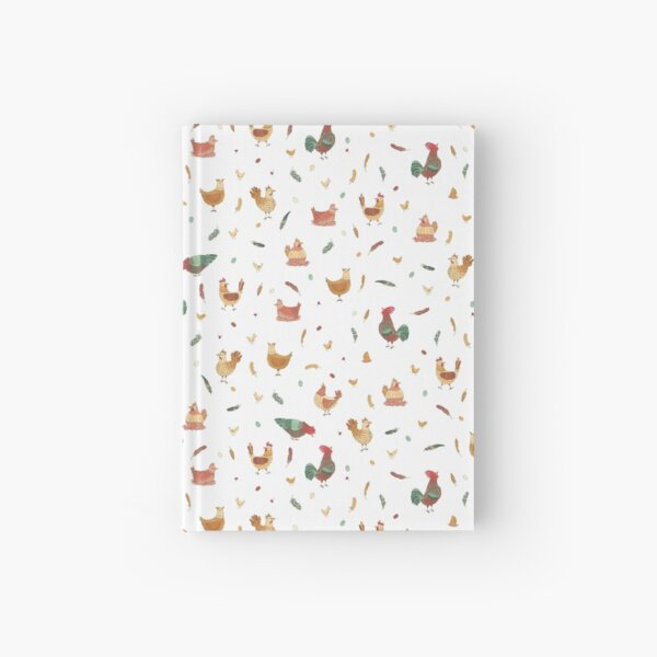 Cute Spring Chickens Pattern Hardcover Journal
