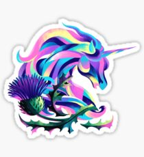 Unicorn and Thistle Sticker