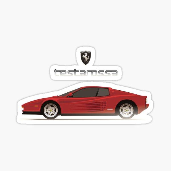 Ferrari Testarossa Sports Car 3D Magic Window Wall Art Self Adhesive Sticker V5