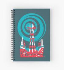 Sutro Tower Screenprint Spiral Notebook