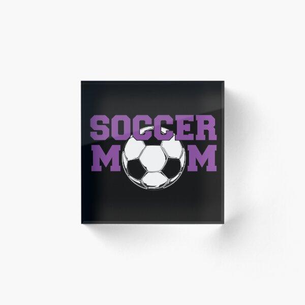 Soccer Mom in Purple Acrylic Block