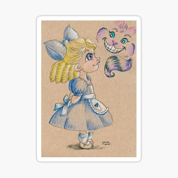 Alice in Wonderland Sticker
