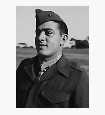 John Basilone wearing The Medal of Honor Photographic Print