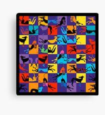 Pop Art Hounds Canvas Print
