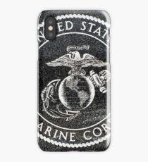 Marine Corp Emblem Polished Granite iPhone Case/Skin