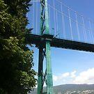 Lions Gate Bridge -- Vancouver, BC, Canada by travisferrell