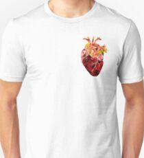 Rose tinted heart Unisex T-Shirt