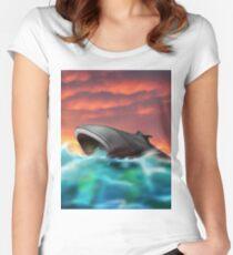 Futuristic Submarine  Women's Fitted Scoop T-Shirt