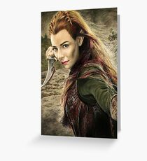 Tauriel Portrait- The Hobbit, Desolation of Smaug Greeting Card