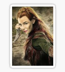 Tauriel Portrait- The Hobbit, Desolation of Smaug Sticker