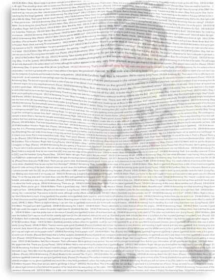 """Apollo 11 Transcript"" Canvas Prints by Snipicks | Redbubble"