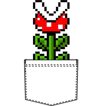 8-Bit Mario Pocket Piranha Plant by topnotchtees