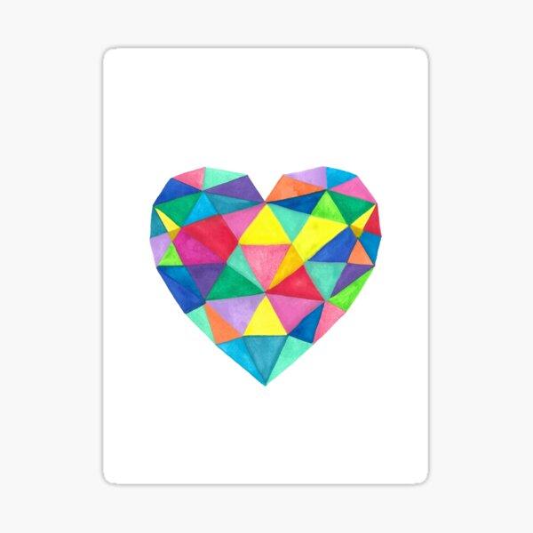 Corazón colores Pegatina