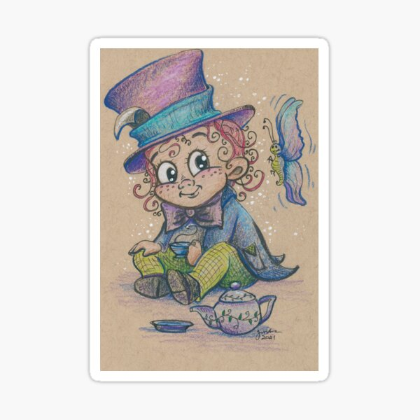 Little Mad Hatter Sticker