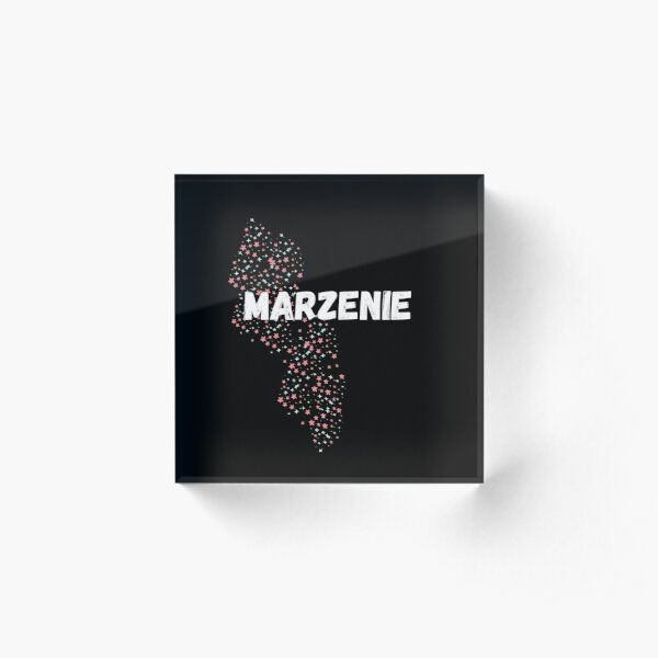 MARZENIE- Means dream in Polish. Pink sanset style, simple text design Acrylic Block