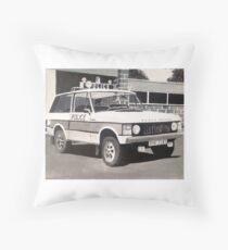 Range Rover Police Car Throw Pillow