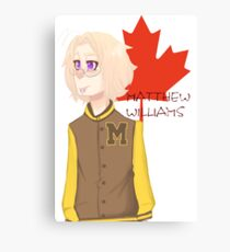 Matthew Williams-Highschool outfit  Canvas Print